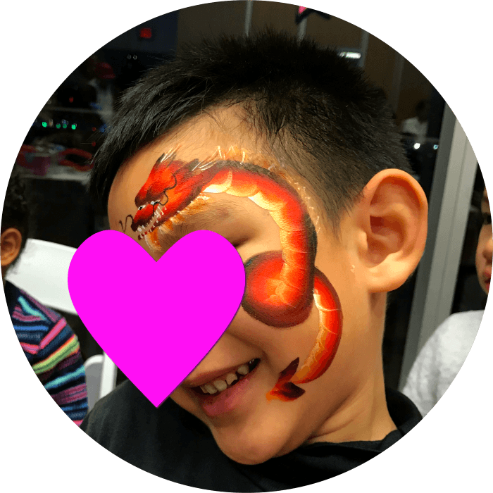 Dragon Kids Face Painting Services Vancouver