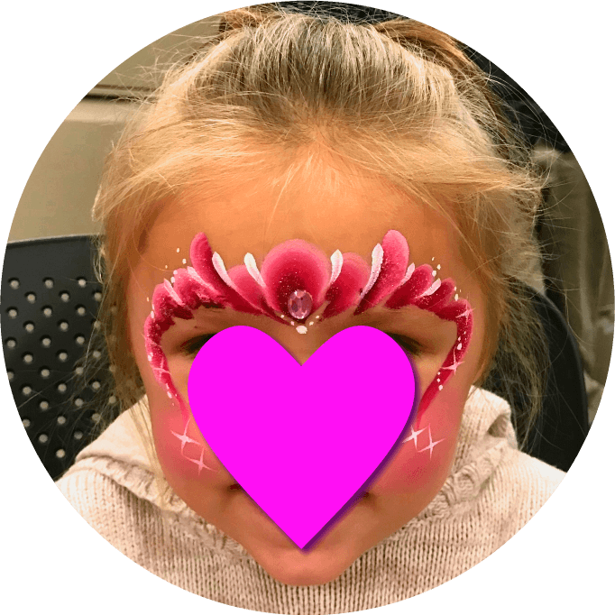 Princess Crown Face Painting for Birthday Parties