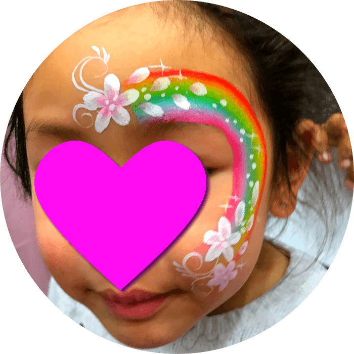 Rainbow Face Painting for Birthdays Vancouver