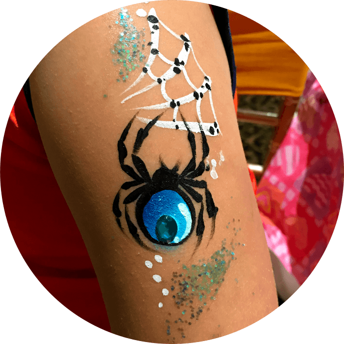 Spider Arm Face Painting Vancouver