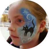 Halloween Black Cat Face Painting Entertainment for Birthdays Vancouver