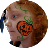 Halloween Pumpkin Facepainting Vancouver Face Painter for Events and Bdays