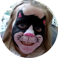 Kitty Cat Face Painting for Birthday Parties in Vancouver for Children