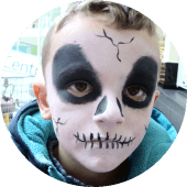 Skull Face Painting Halloween Vancouver Hire a Face Painter for Kids Bday Party